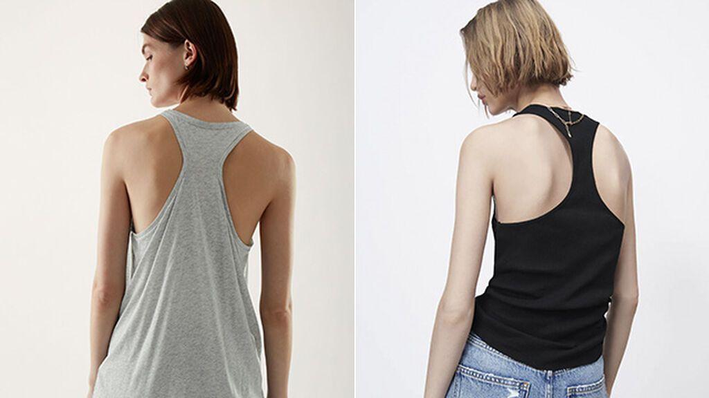 Camisetas de COS y Zara