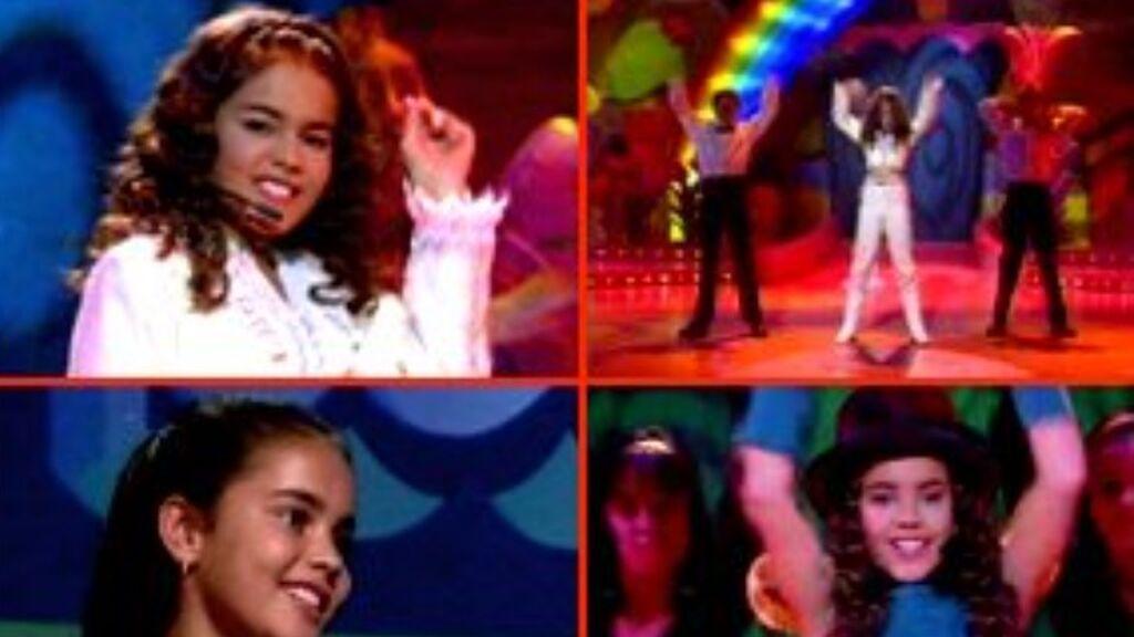 Lara Álvarez imitó a Janet Jackson con 9 años en 'Menudas estrellas'