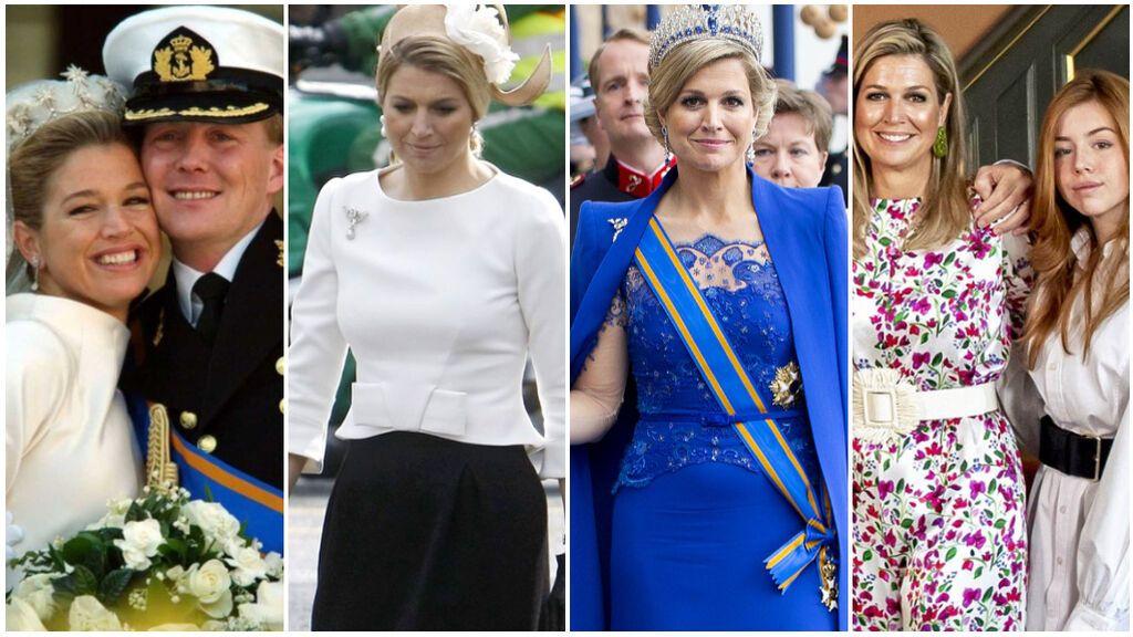 Estos han sido los looks de Máxima de Holanda que más han triunfado en todas sus apariciones: desde su coronación hasta sus outfits informales junto a sus hijas.
