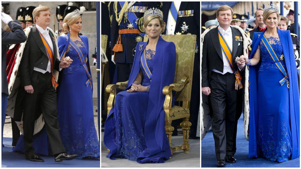 Se decantó por un vestido en azul klein de uno de sus diseñadores de cabecera.