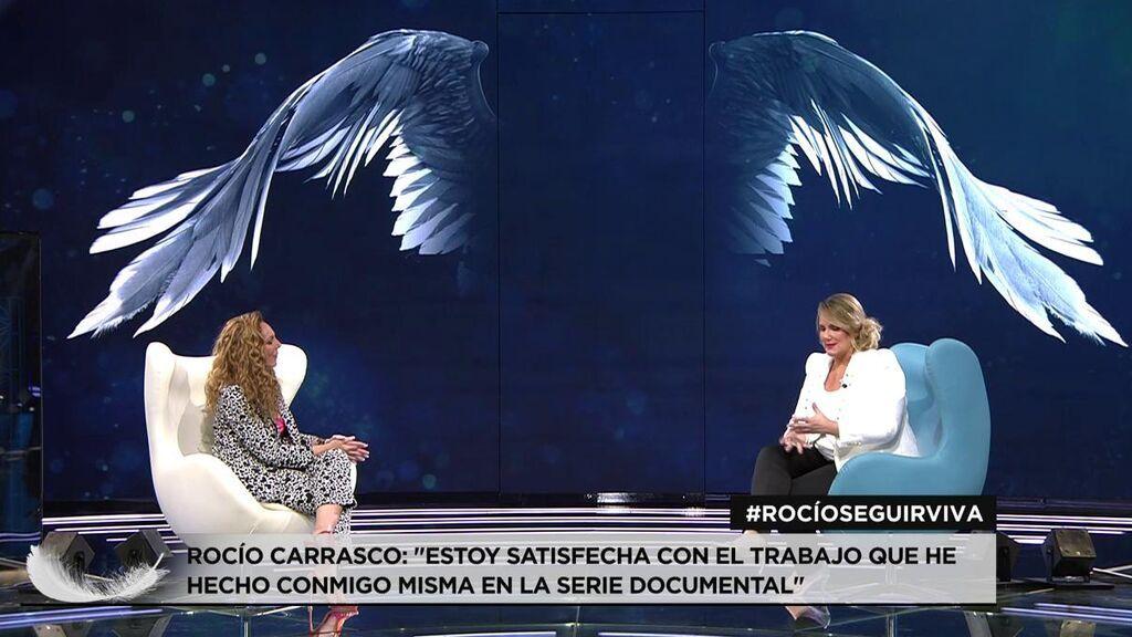 """Rocío Carrasco, a Carlota Corredera: """"Estoy orgullosa de ti, del equipo y de las mujeres de este país"""""""