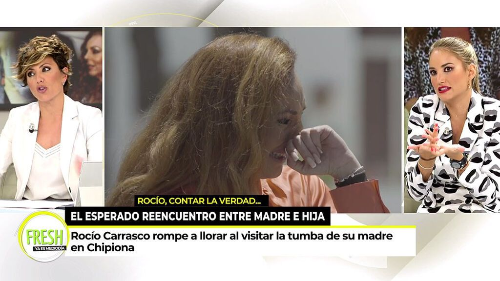 Alba Carrillo e Isabel Rábago, sin palabras ante una pregunta de Sonsoles Ónega sobre Rocío Carrasco