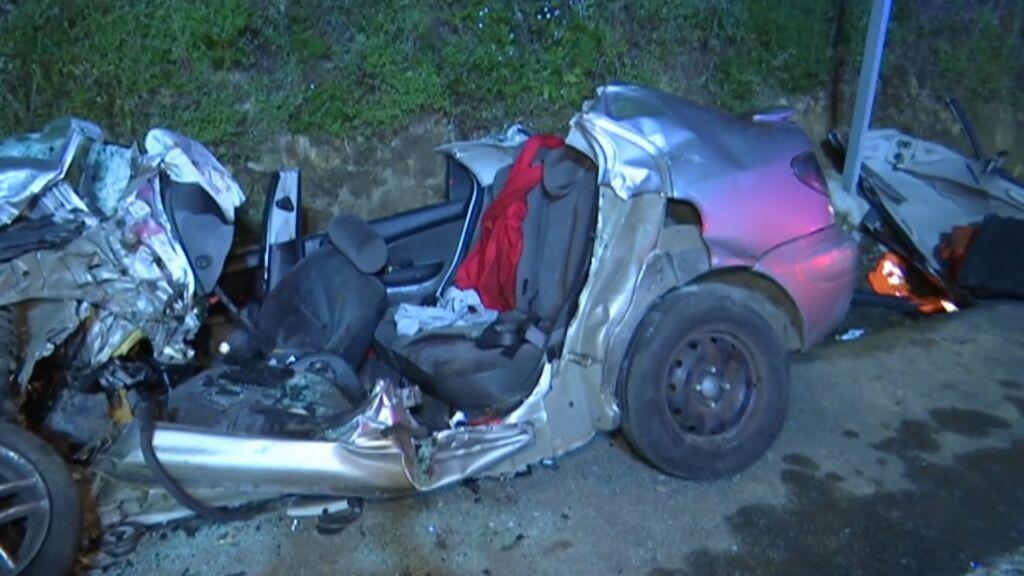 Tres muertos en un accidente de coche en Pontevedra