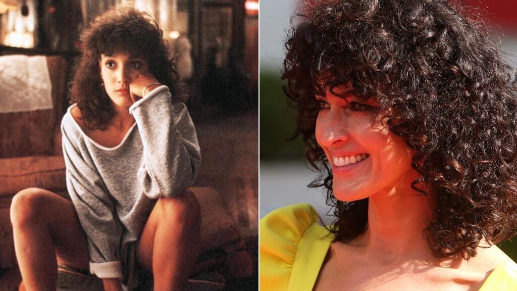 El peinado de Blanca Romero al estilo 'Flashdance'
