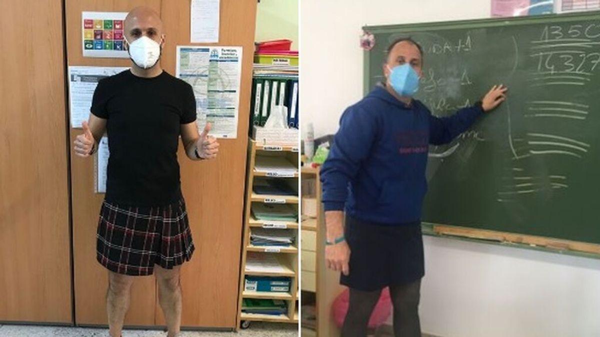 Profesores con falda, la iniciativa solidaria de un colegio de Valladolid tras la agresión homófoba a un alumno