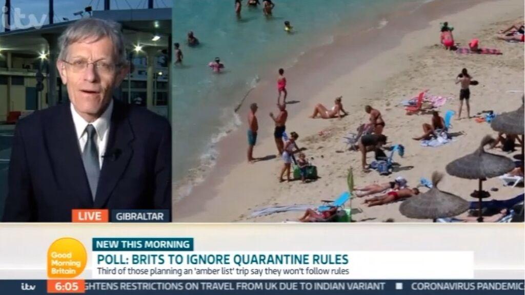 El enviado de la ITV informa sobre los viajes a GIbraltar