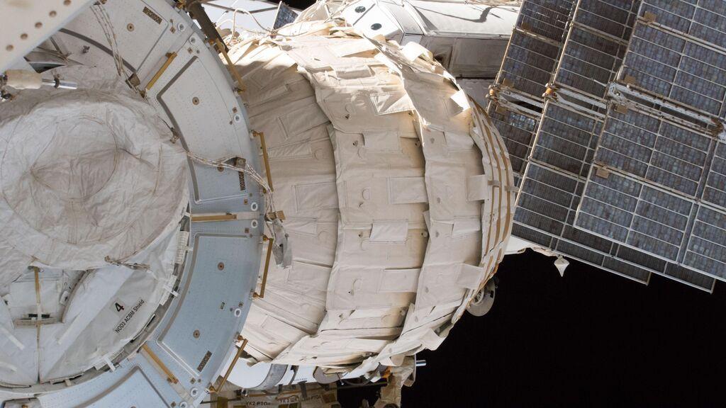 Vista del Bigelow Expandable Activity Module (BEAM) de la ISS