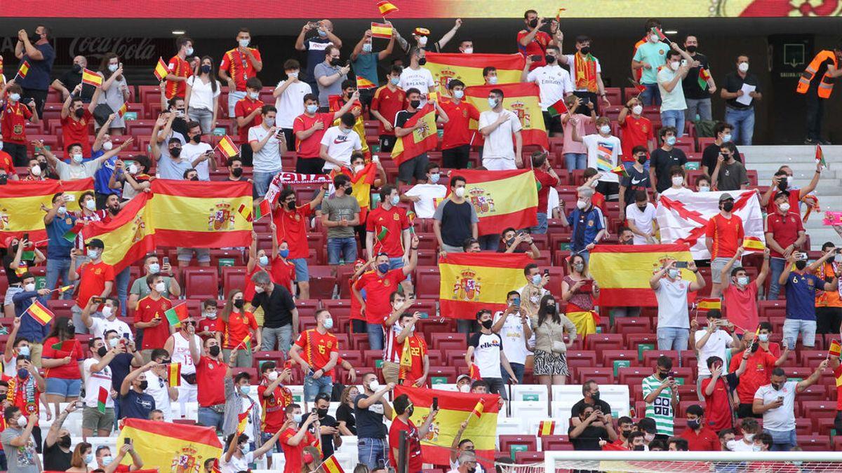El Wanda ruge con La Roja: 14.000 personas asisten al España-Portugal, con el Felipe VI en el palco