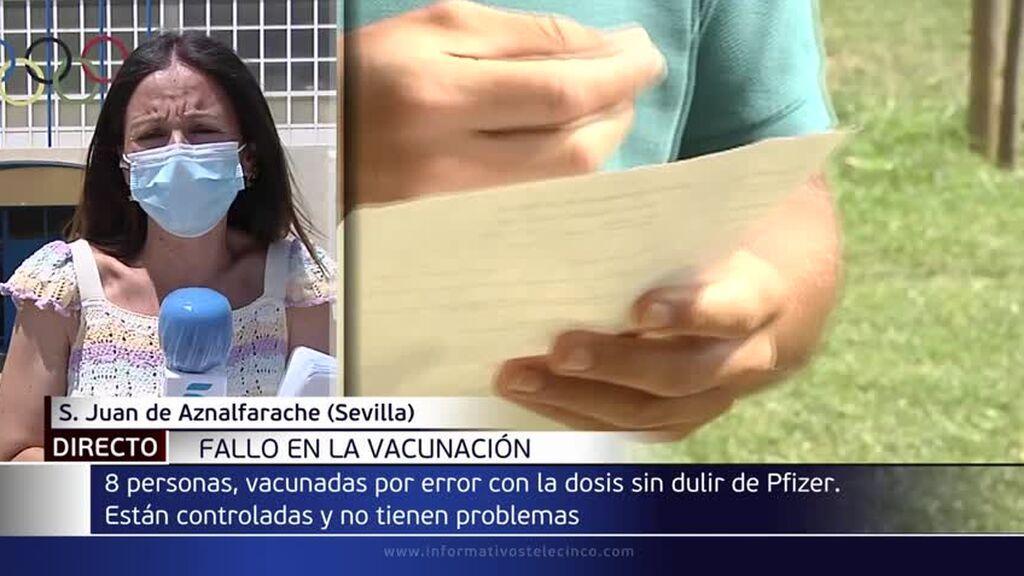 Administran por error dosis de la vacuna de Pfizer sin diluir a ocho personas en Andalucía