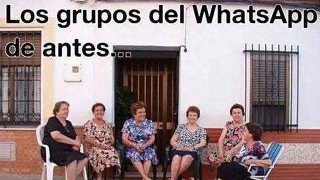 """Meme de señoras al fresco: """"Los grupos de whatsapp de antes"""""""