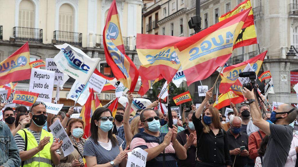 Manifestación de Guardias civiles en Madrid: piden mejores condiciones y completar la equiparación salarial