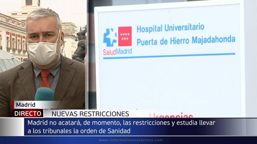 Madrid no acata las restricciones del ocio nocturno por coronavirus y las recurrirá ante la Audiencia Nacional