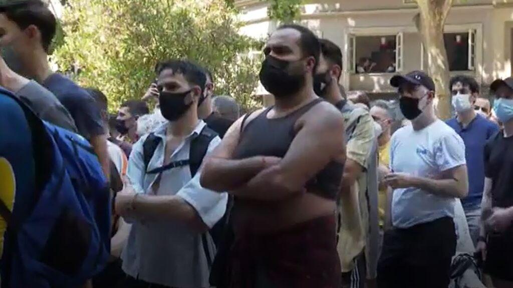 Concentración en Barcelona contra las agresiones homófobas