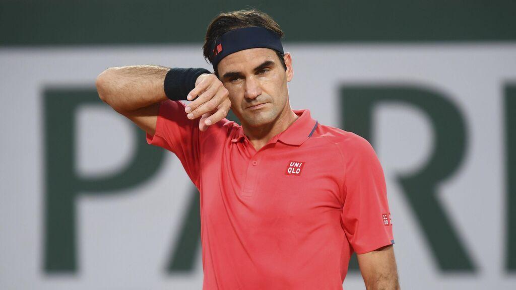 Roger Federer, en su partido de tercera ronda de Roland Garros.