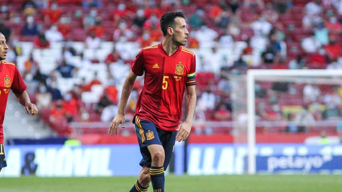 El capitán de la selección española, Sergio Busquets, positivo por coronavirus a una semana de la Eurocopa