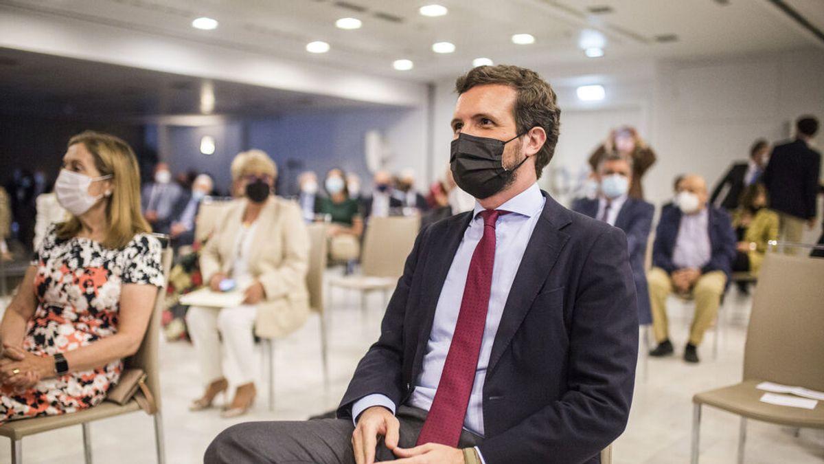 """Casado: """"Hace meses escuché a Junqueras diciendo que los indultos se los podía meter el Gobierno por no sé dónde"""""""