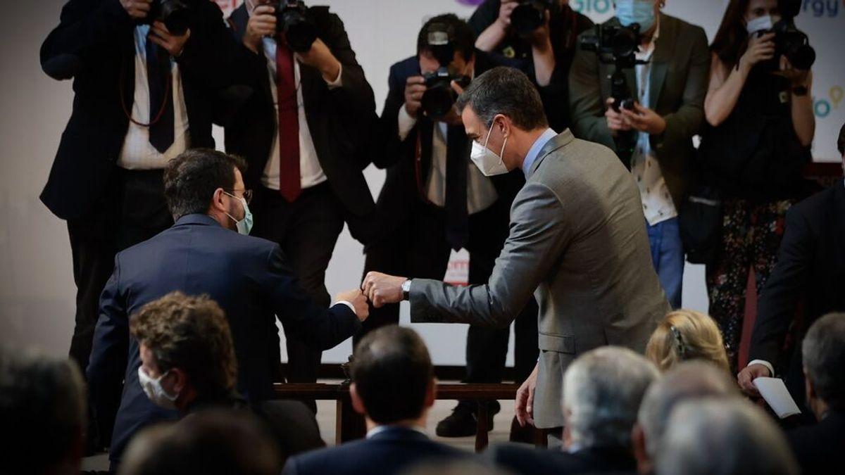 Sánchez y Aragonés coinciden por primera vez en Barcelona