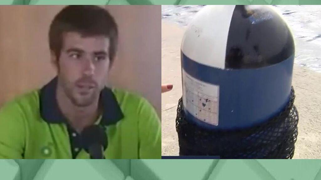 Las claves de la posible botella de oxígeno de Tomás Gimeno encontrada en el mar
