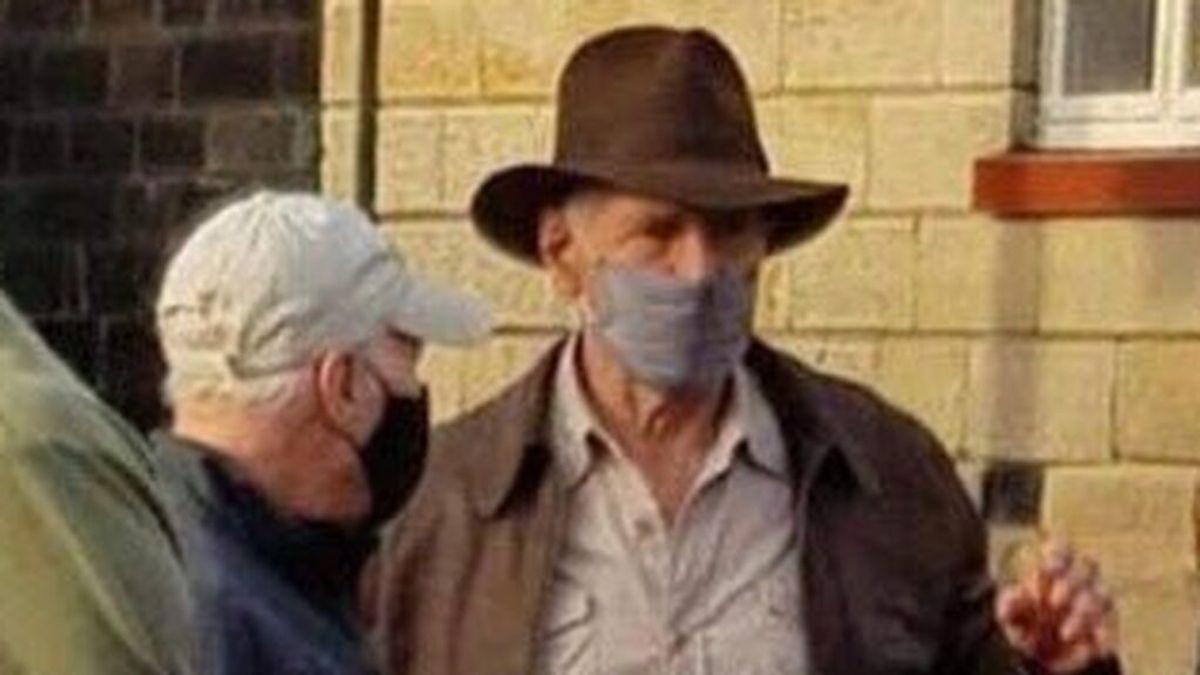 Harrison Ford, en el rodaje de Indiana Jones 5