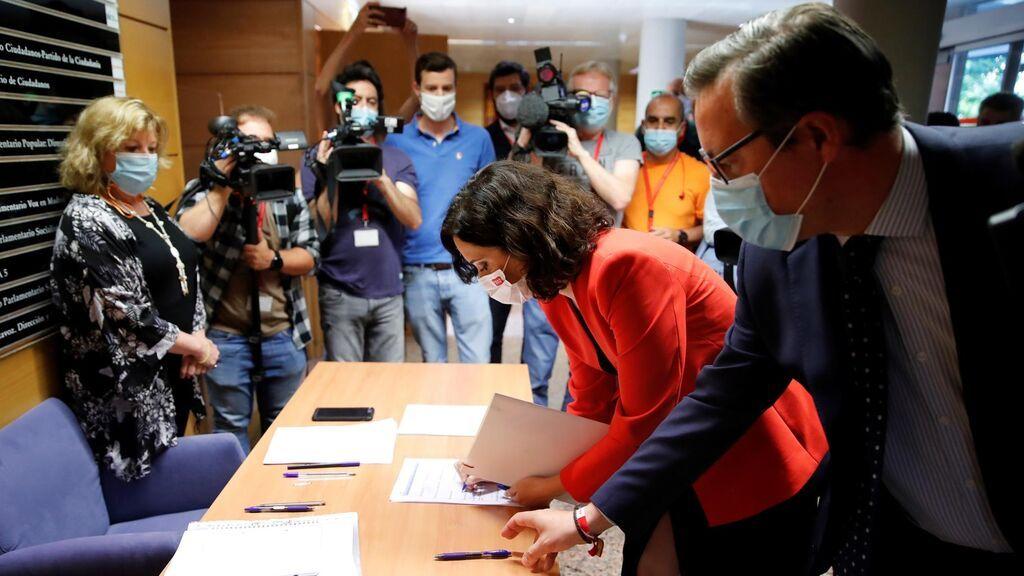 Ayuso alcanza un acuerdo  con  Vox que ocupará una de las vicepresidencias de la Asamblea de Madrid