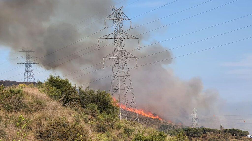 Incendio en Collserola