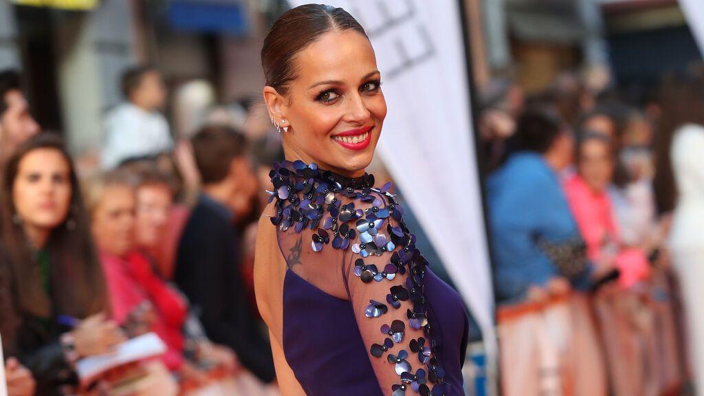 Para el Festival de Vitoria se decantó por un vestido en azul klein.