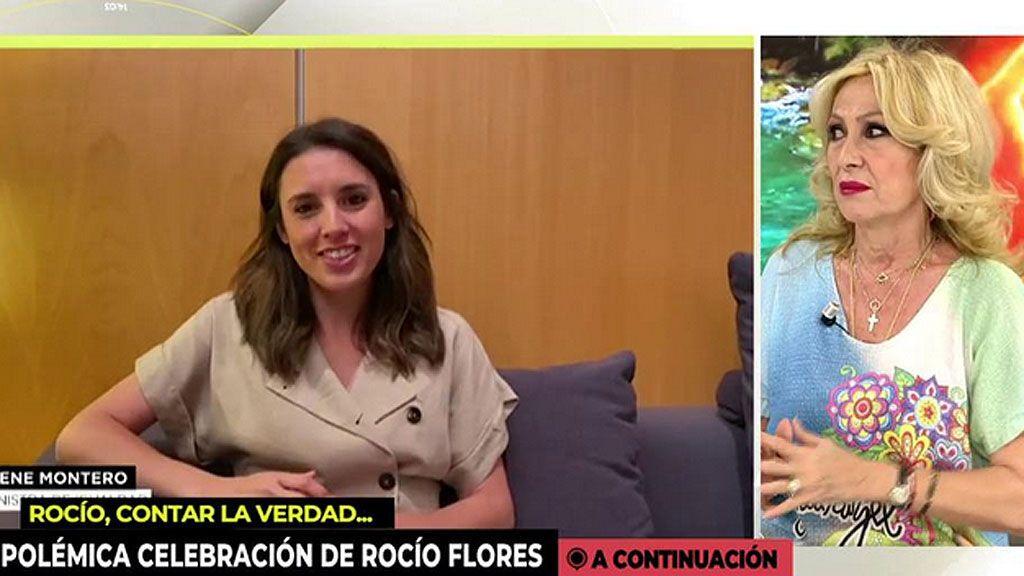"Rosa Benito también carga contra Irene Montero: ""Ministra, me parece muy fuerte"""
