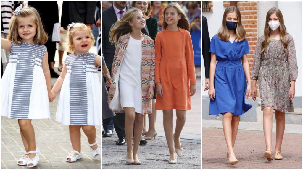 Estos han sido los mejores looks de Leonor y Sofía: así ha evolucionado su estilo en estos últimos diez años