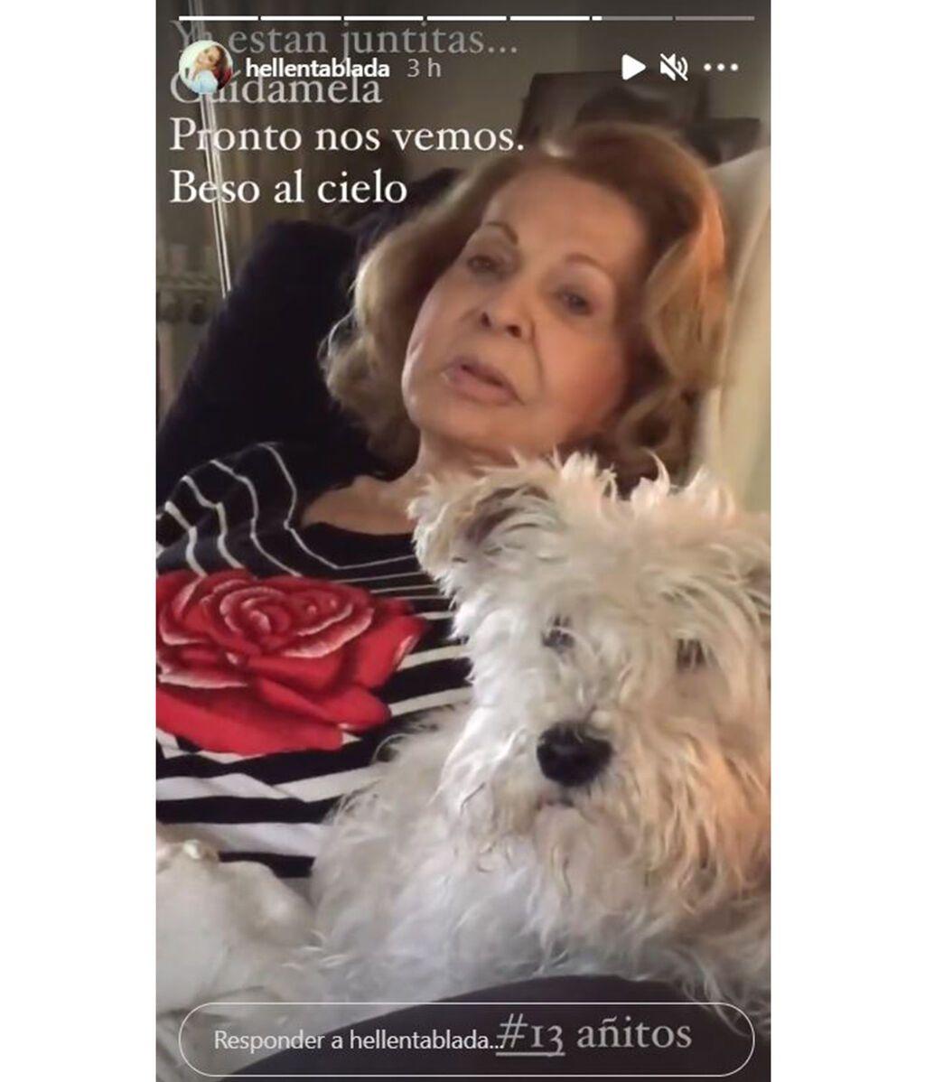 Elena Tablada says goodbye to Sally, her pet