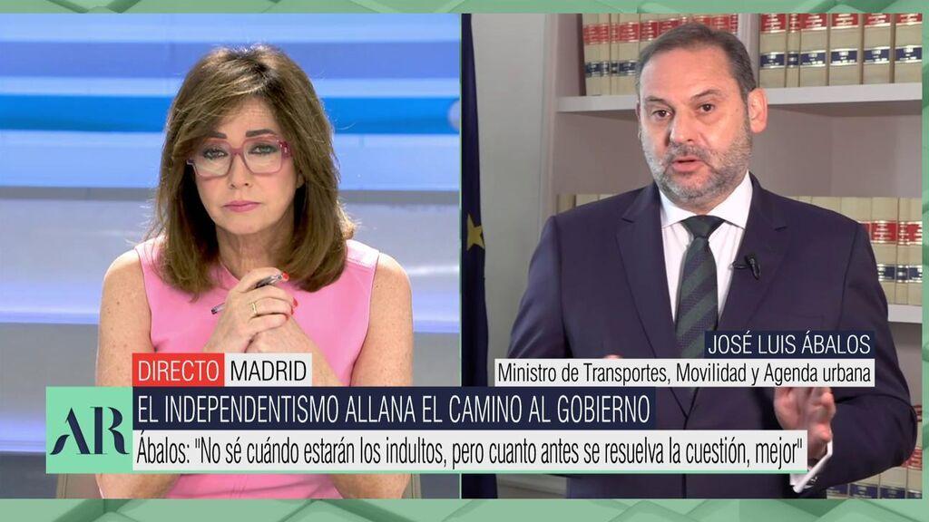 La entrevista de Ana Rosa al ministro Ábalos