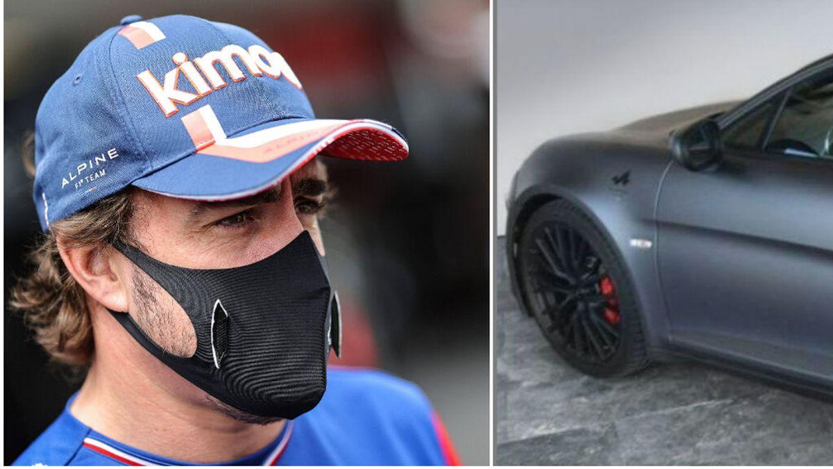 Alpine le regala un coche personalizado a Fernando Alonso: Su número y la bandera de España