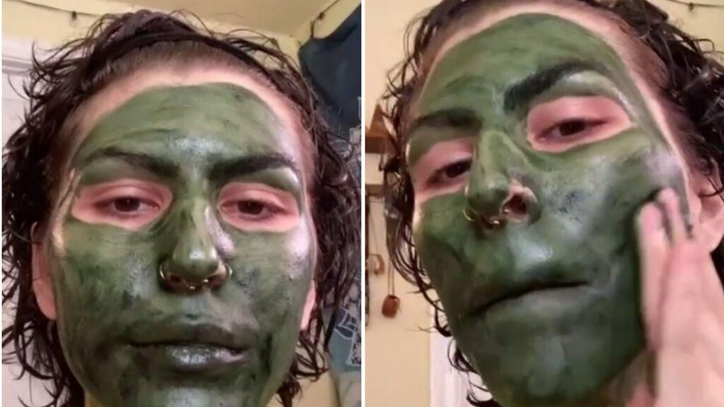 Su mascarilla facial la convirtió en Shrek