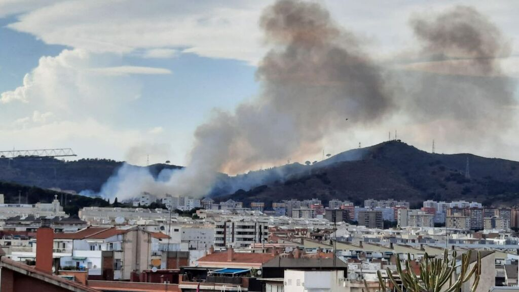Los Mossos sostienen que el incendio de Collserola, en Barcelona, ha sido provocado