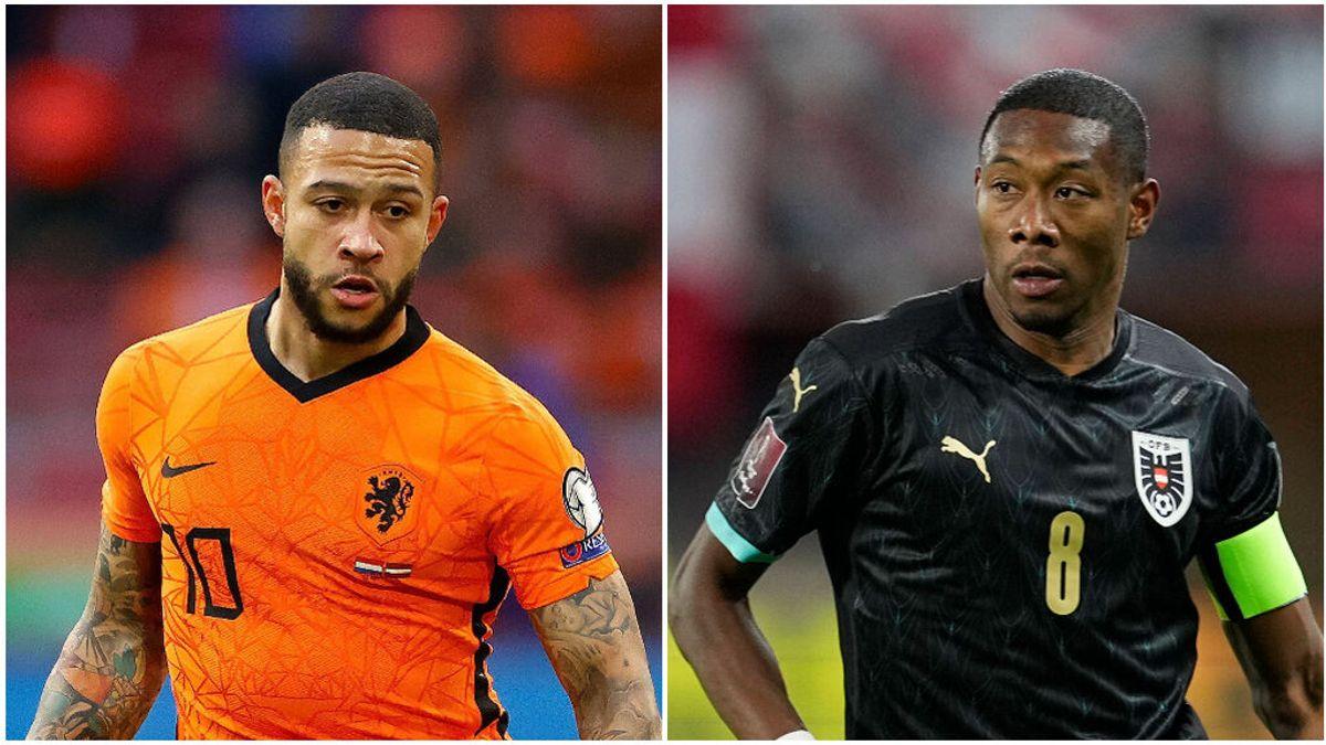 David Alaba y Memphis Depay serán los encargados de poner el físico y la clase en el Grupo C de la Eurocopa