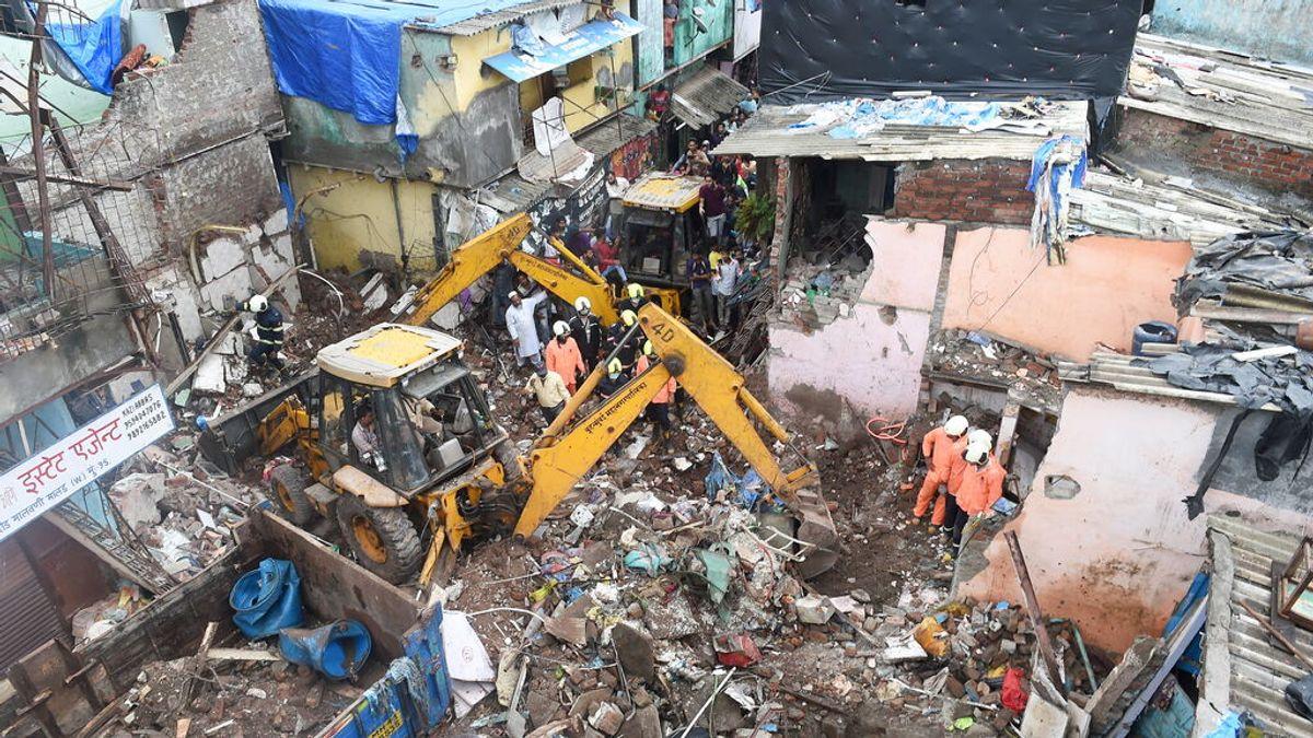 Once personas muertas, entre ellas ocho menores en el derrumbe de un edificio en Bombay
