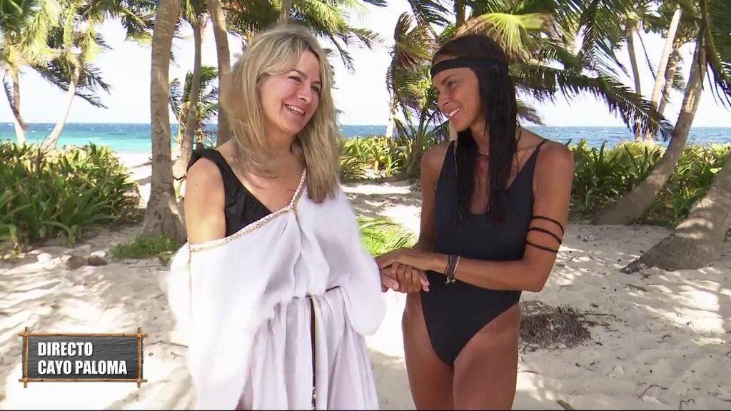 El encuentro entre Olga Moreno y Nela, la madre de Melyssa