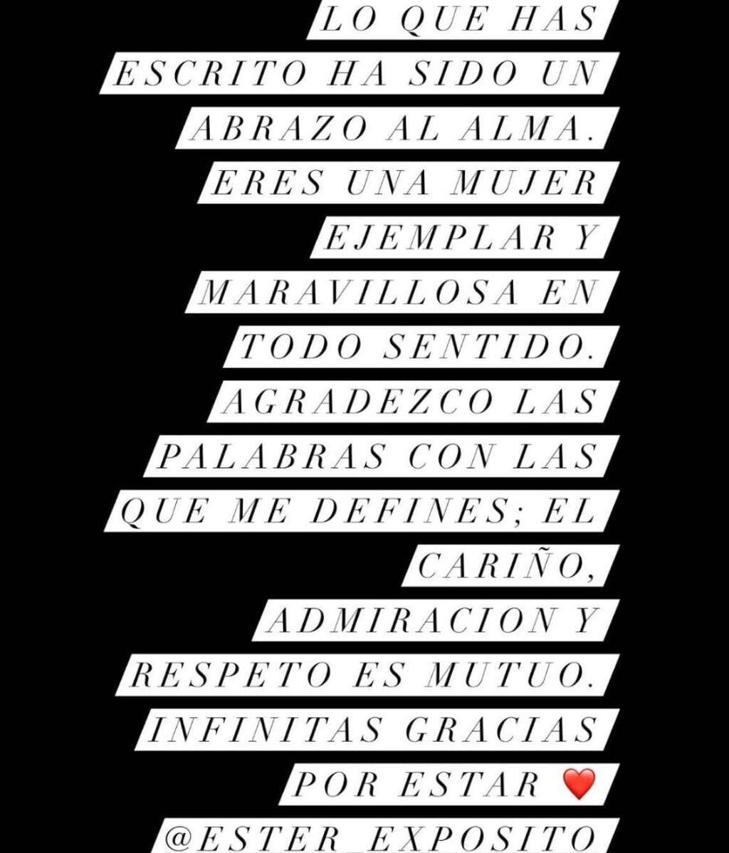 La respuesta de Alejandro Speitzer a Ester Expósito