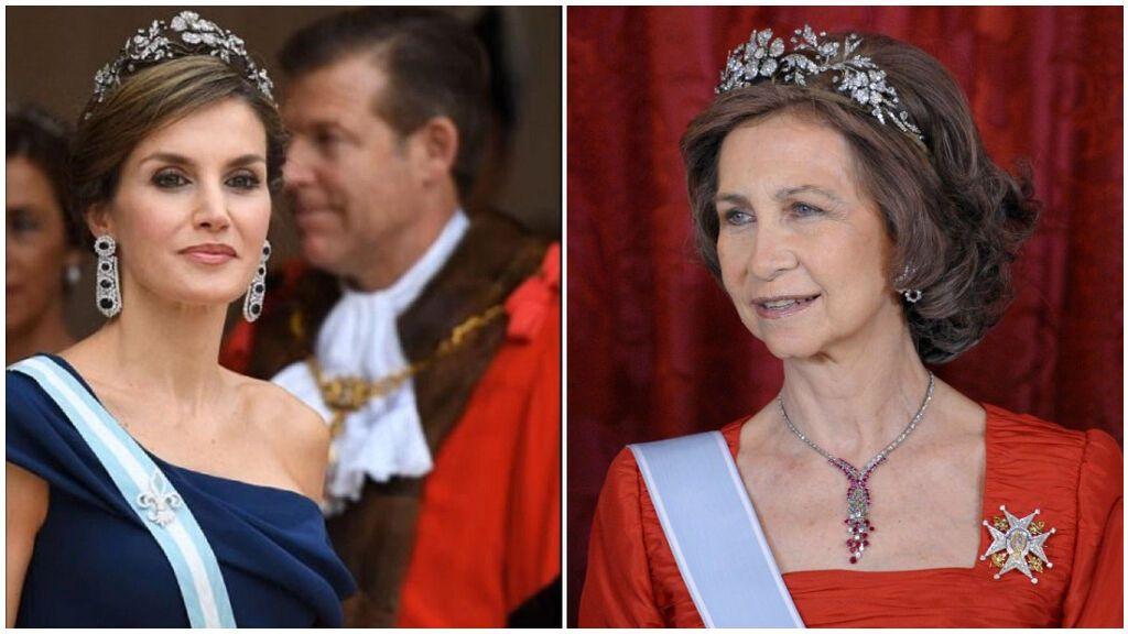 La tiara floral fue un regalo de Francisco Franco.