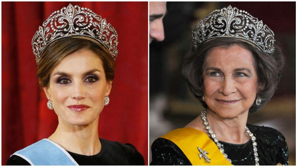 La tiara de flor de Lis es una de las más especiales para Letizia y la reina Sofía.