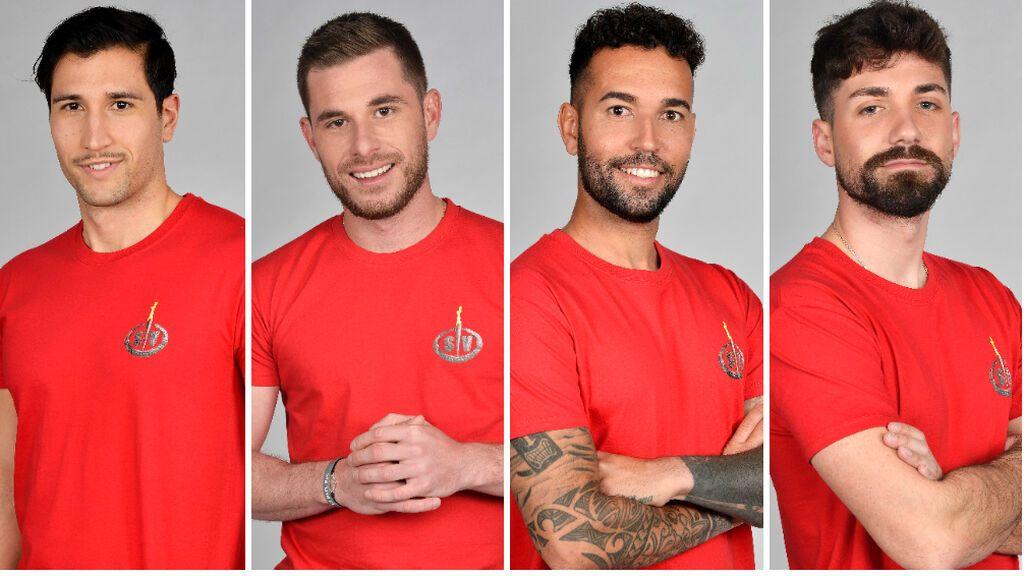 Gianmarco Onestini, Tom Brusse, Omar Sánchez y Alejandro Albalá, nominados de 'Supervivientes 2021'