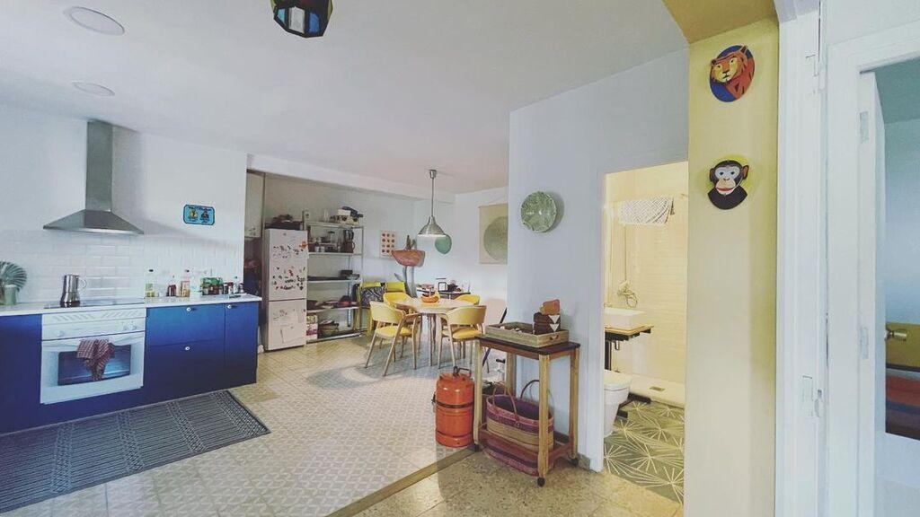 La cocina de la casa de campo de Tania Llasera antes de ser reformada