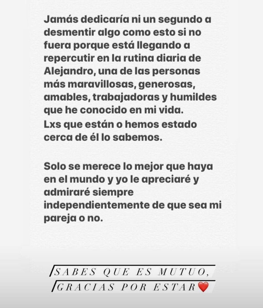 La primera respuesta de Alejandro Speitzer a Ester Expósito