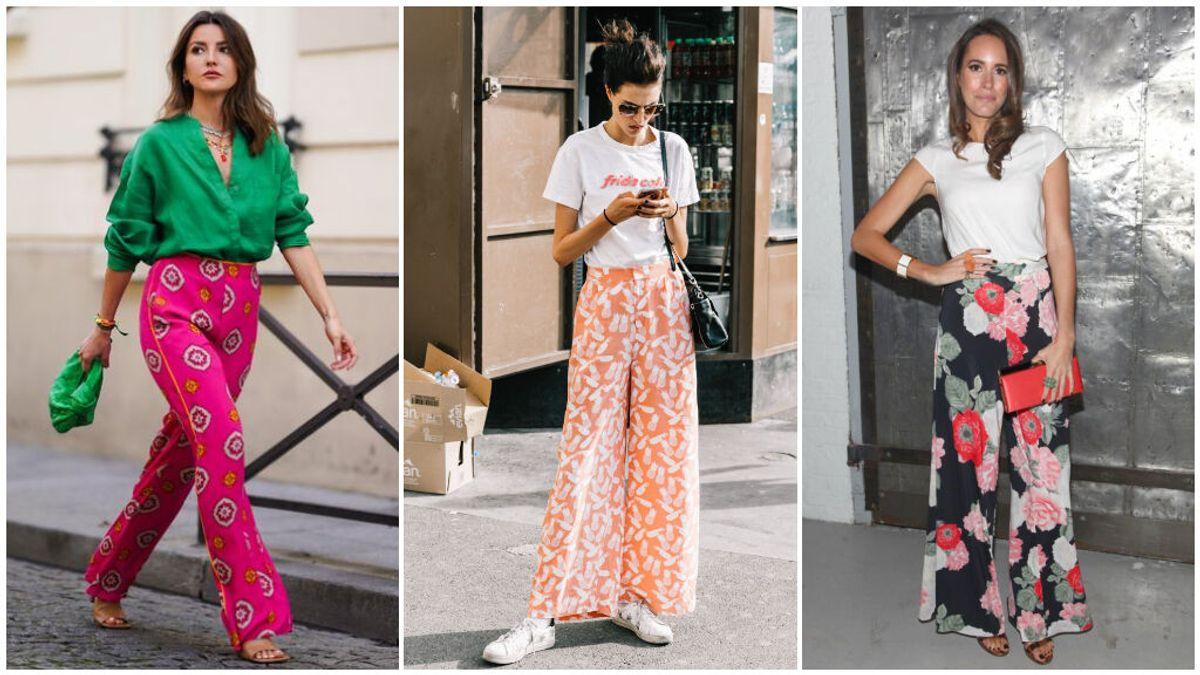 Así podrás llevar un pantalón fluido con estampado con estilo y elegancia: esta es la prenda que triunfa entre famosas e influencers.