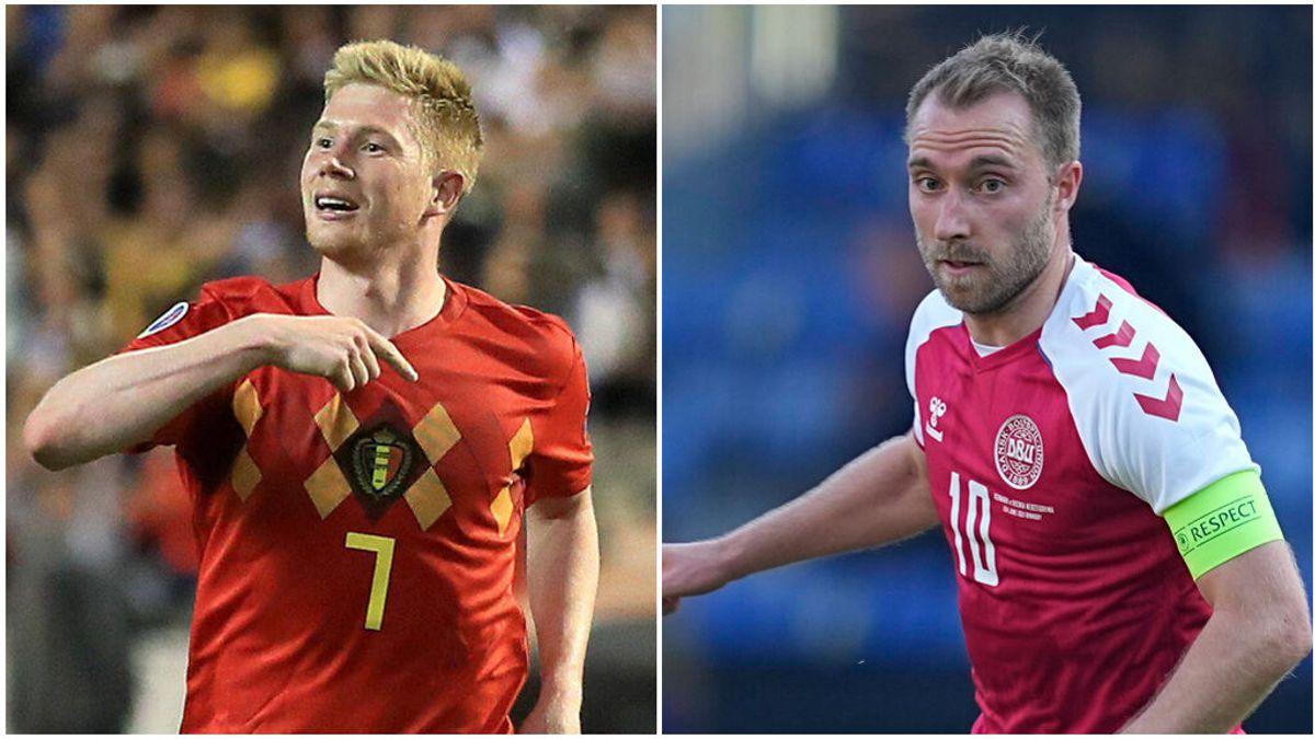 De Bruyne y Eriksen ponen toda la calidad en el Grupo B de la Eurocopa