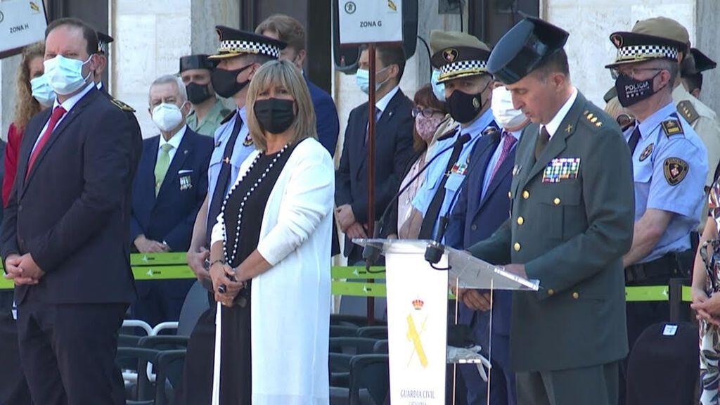 El director de los Mossos, único representante de la Generalitat en la toma de posesión del jefe de la Guardia Civil en Barcelona