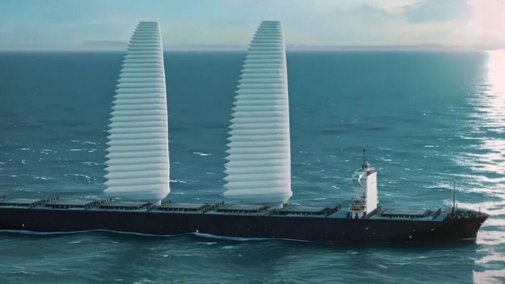 WISAMO, la vela hinchable y retráctil de Michelin  que puede reducir un 15% el consumo de los barcos