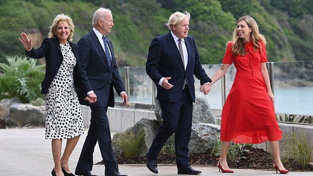 Los Johnson reciben a los Biden antes de la cumbre del G7