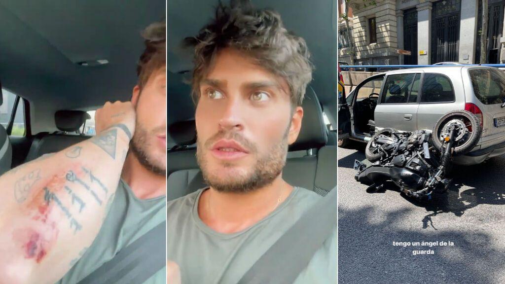 Las heridas y cómo ha quedado la moto de Rodri tras el accidente