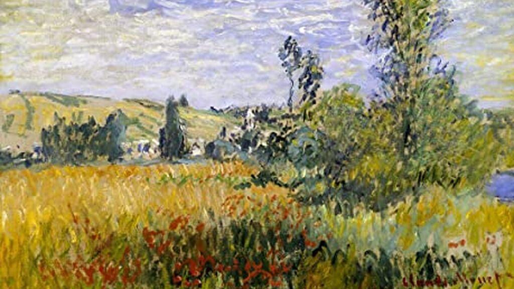 Imitación de Paisaje en Vetheuil (Claude Monet)