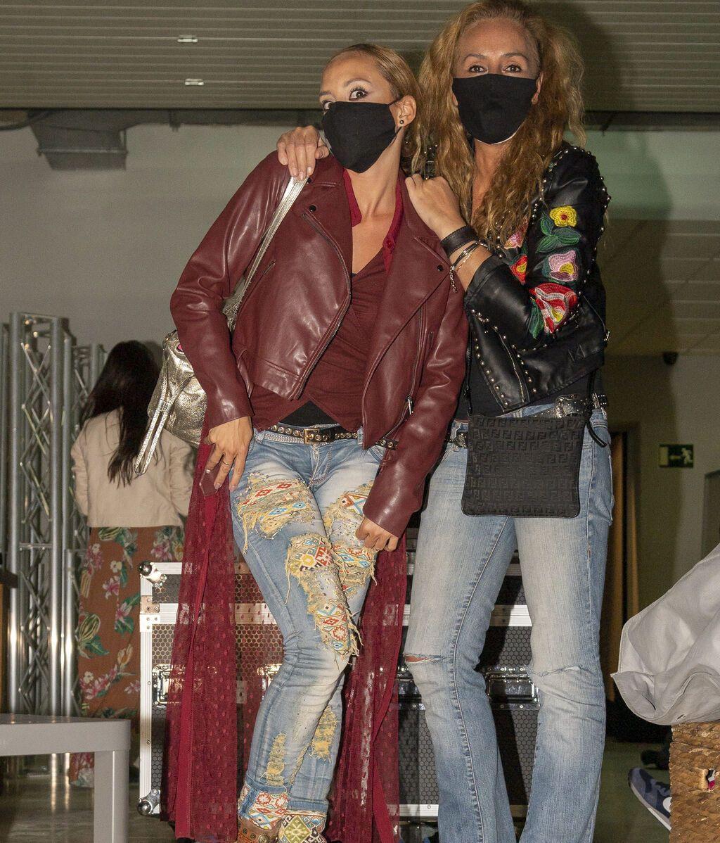 Rocío Carrasco junto a Anabel Dueñas, uno de sus apoyos fundamental